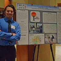 Donovan Lopez shares his research poster